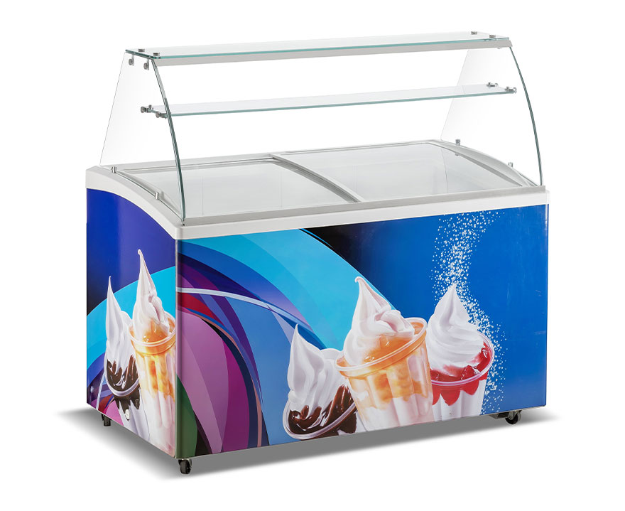 Changer Showcase Freezer SC/SD(W)-415 glass